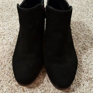 Crown Vintage Shoes - Crown Vintage Worn Once Suede Booties Stacked heel